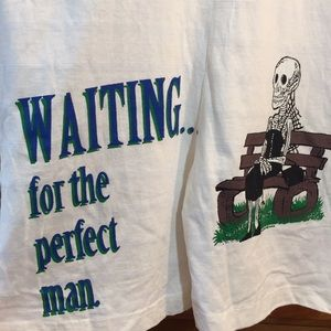 Amazing Waiting for the Perfect Man Vintage Jumper